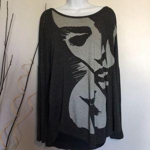 Abercrombie oversized women's long sleeve shirt